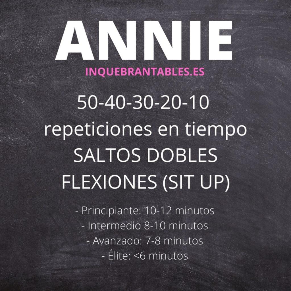 ANNIE min min 1024x1024 - WOD: Annie